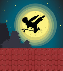Kicking into the moonlight