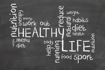 Healthy Life words
