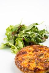Salat mit quiche