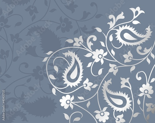traditional paisley floral pattern , textile swatch, royal India
