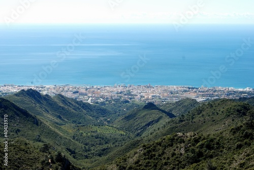 Town, sea and mountains, Marbella, Spain © Arena Photo UK