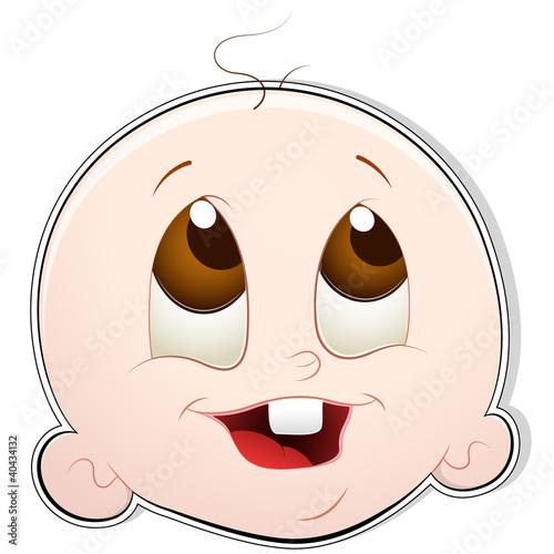 可爱娃娃脸图片简笔画