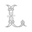 A Celtic Knot-work Capital Letter L Stylized Outline