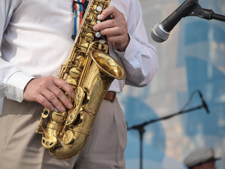 Saxophone on stage