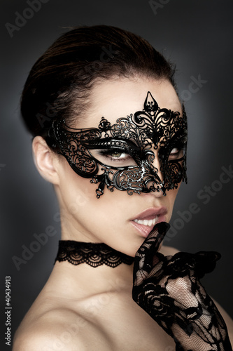 canvas print picture Black Mask Fantasy Erotik