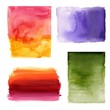 Set of watercolor abstract hand