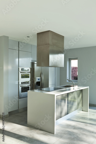 beautiful modern house, view of new kitchen
