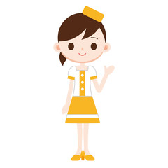 イベントコンパニオン イメージカラー黄色