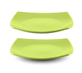 square green plate isolated with clipping path included
