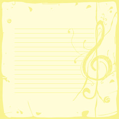 musical background paper
