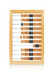 vintage wooden abacus vector illustration isolated on white