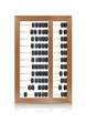 chinese vintage wooden abacus vector illustration isolated on