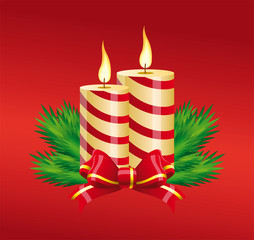Christmas striped candles