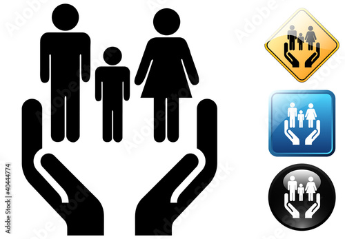 Social services pictogram and icons
