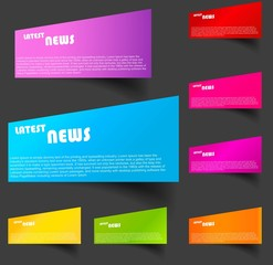Design of advertisement latest vector colorful