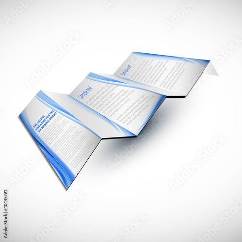 new brochure design fold vector