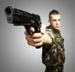 caucasian soldier