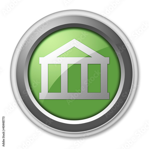 "Green 3D Style Button ""Bank"""