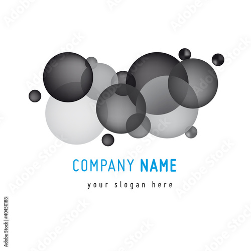 Bubble Logo template Greyscale