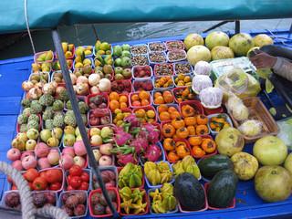 Vietnam, floating market, Früchte, Asien