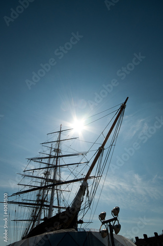 Masts and Prow - Cutty Sark