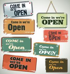 Vintage grunge sign - Open