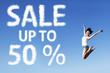 50 Percent Sale Poster