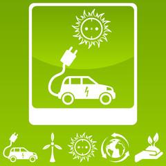 Elektroauto und Umweltzeichen