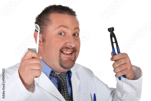 A dentist with his tools