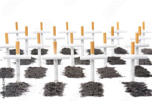 smoking kills, smokers graveyard concept