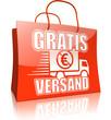 Serie Einkaufstasche GRATIS VERSAND, rot