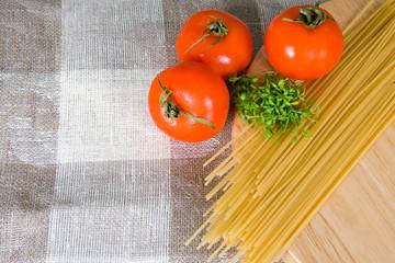 Spaghetti and tomatos