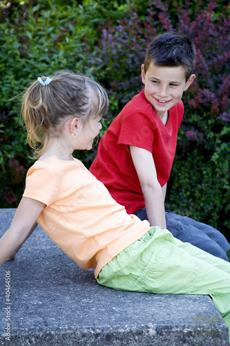 Boy and girl chatting