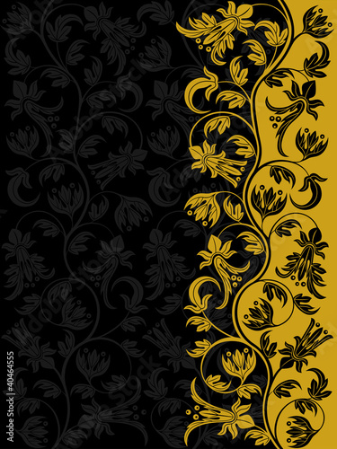 Decorative floral pattern. Retro background