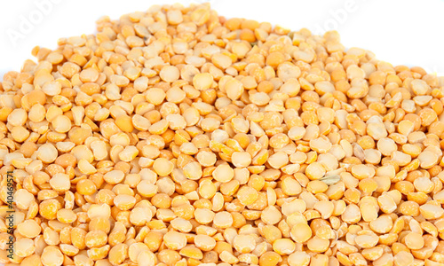 yellow peas isolated