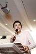 Teenage boy giving speech