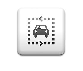Boton cuadrado blanco ruta vehiculo