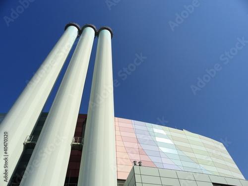 modernes Heizkraftwerk