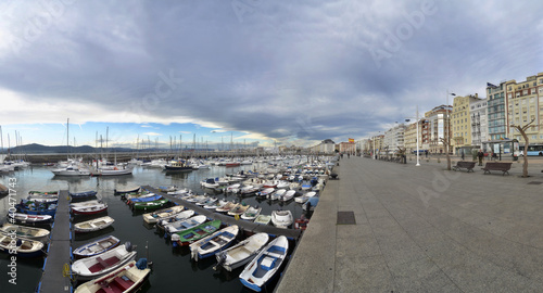 Overlooking the port of Santander