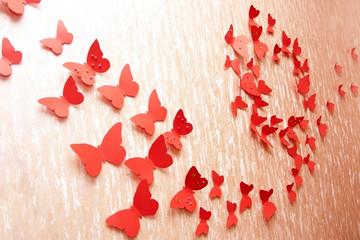 decorative red butterflies