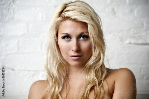 Portrait of a sexy blonde female
