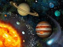 System słoneczny 3D