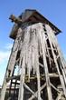Остатки старой деревянной ветрянной мельницы.
