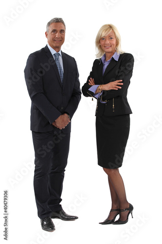 Full length business couple