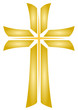 Golden Cross - Vector