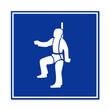 Señal arnes de seguridad