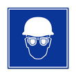 Señal uso de gafas y casco
