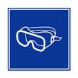 Señal uso de gafas de proteccion