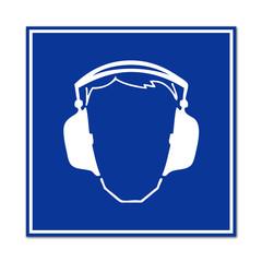 Señal uso proteccion de oidos