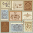 Set Of Vintage Royalty Stamps ...